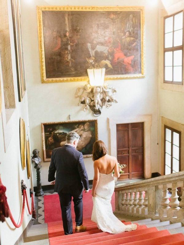 bride and groom in palazzo orsetti