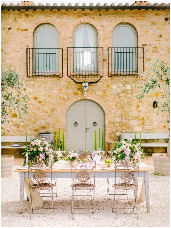 setting of the table conti san bonifacio