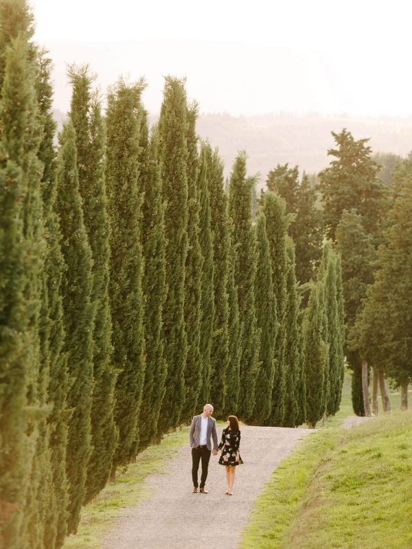 lovers and cypress trees