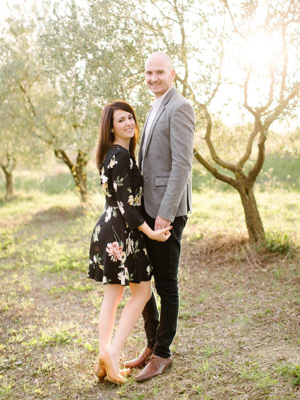 a kiss in an olive grove
