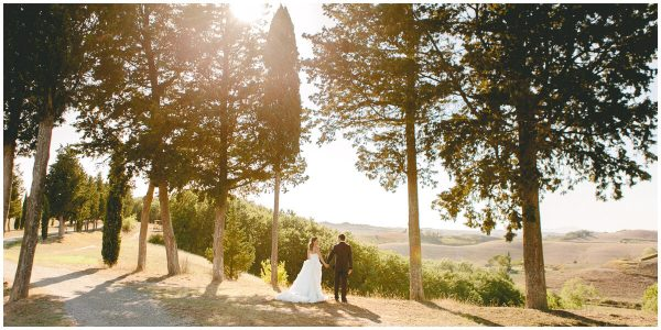 ceremony with a view in tuscany