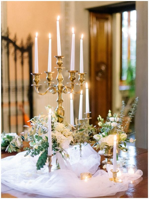 table setting in a tuscan villa