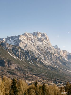 view of the dolomites italian alps