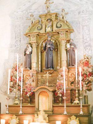 blessing in a church in cortina
