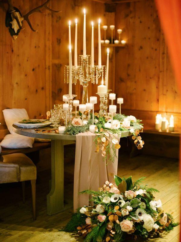 table decor at hotel cristallo