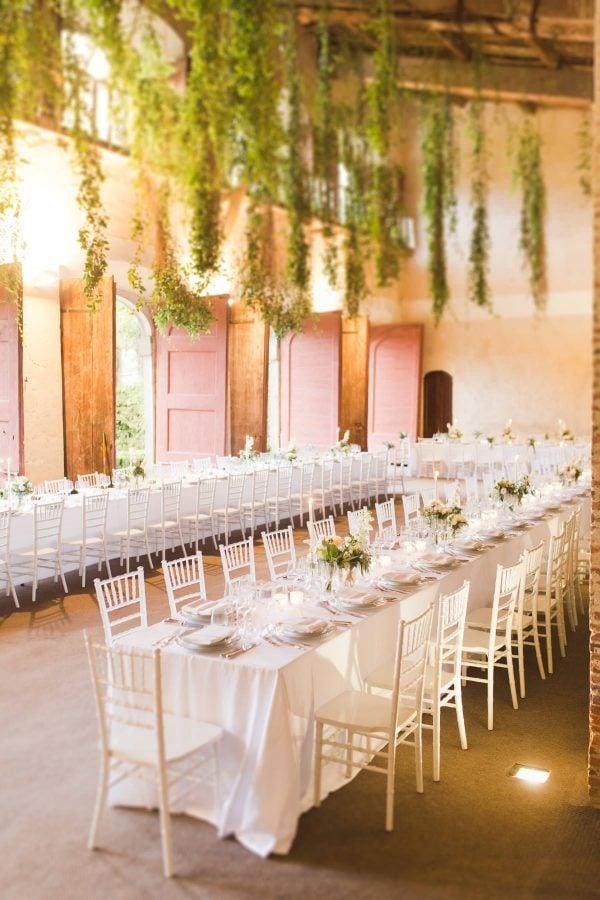 tables into the limonaia of villa grabau