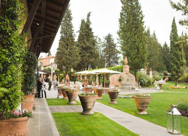 reception at villa paterno