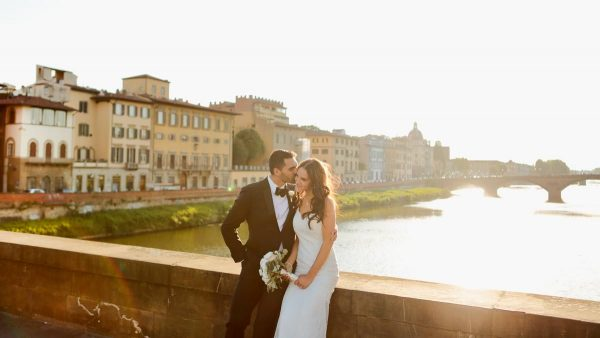 wedding photos in Florence city centre