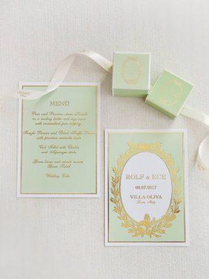 wedding menu by laduree