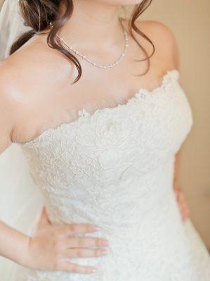 detail of the oscar de la renta dress