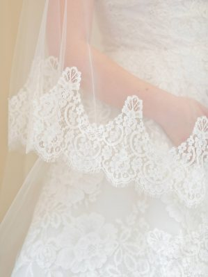the lace of the veil