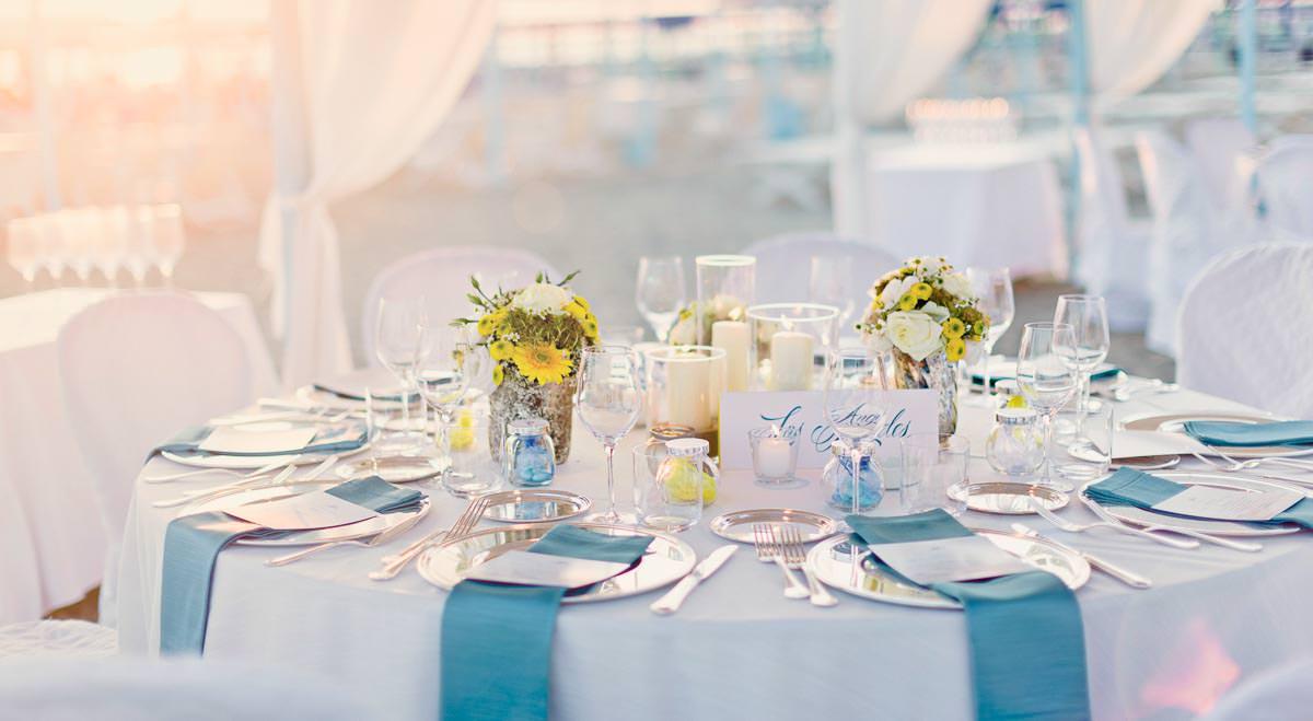 wedding setting at bagno annetta