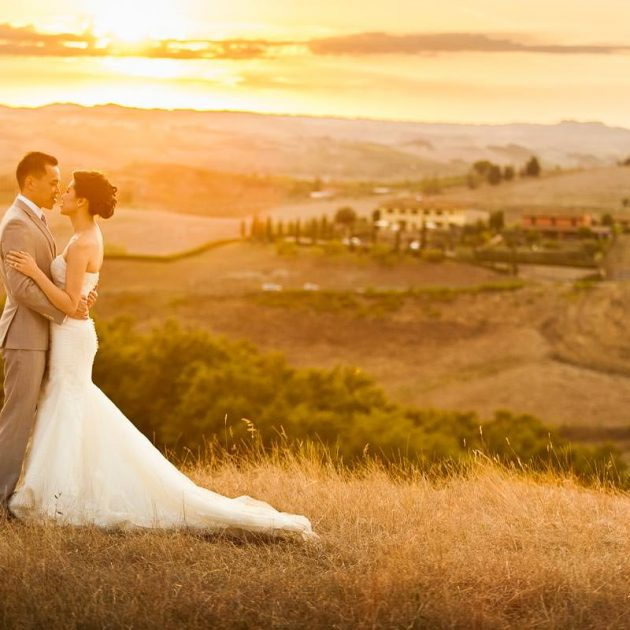 newlyweds in tuscany after the elopement