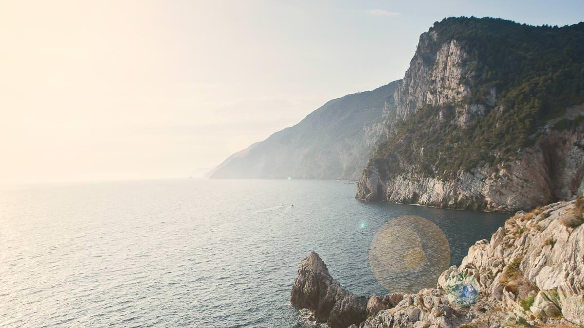 view of the ocean in sestri levante
