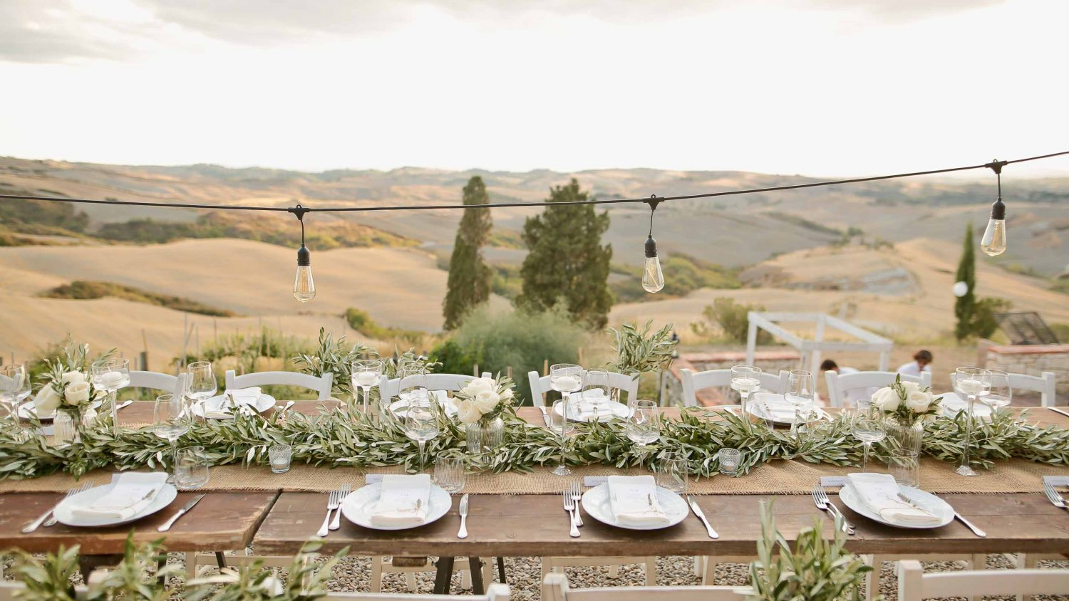rustic table setting at the lazy olive