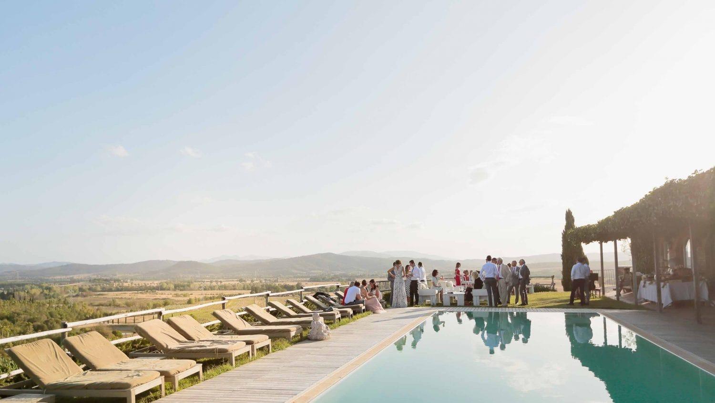 the pool at conti di san bonifacio