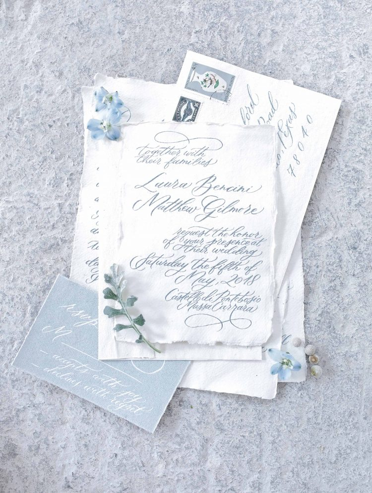wedding stationery by wildflowers calligraphy