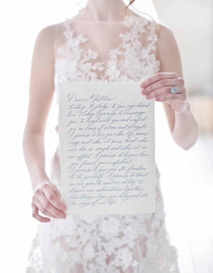 vow by wildflowers calligraphy