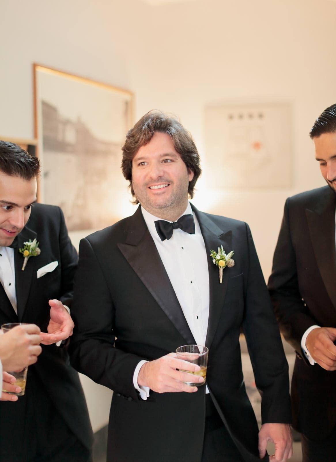 groom toasting the groomsmen before the ceremony