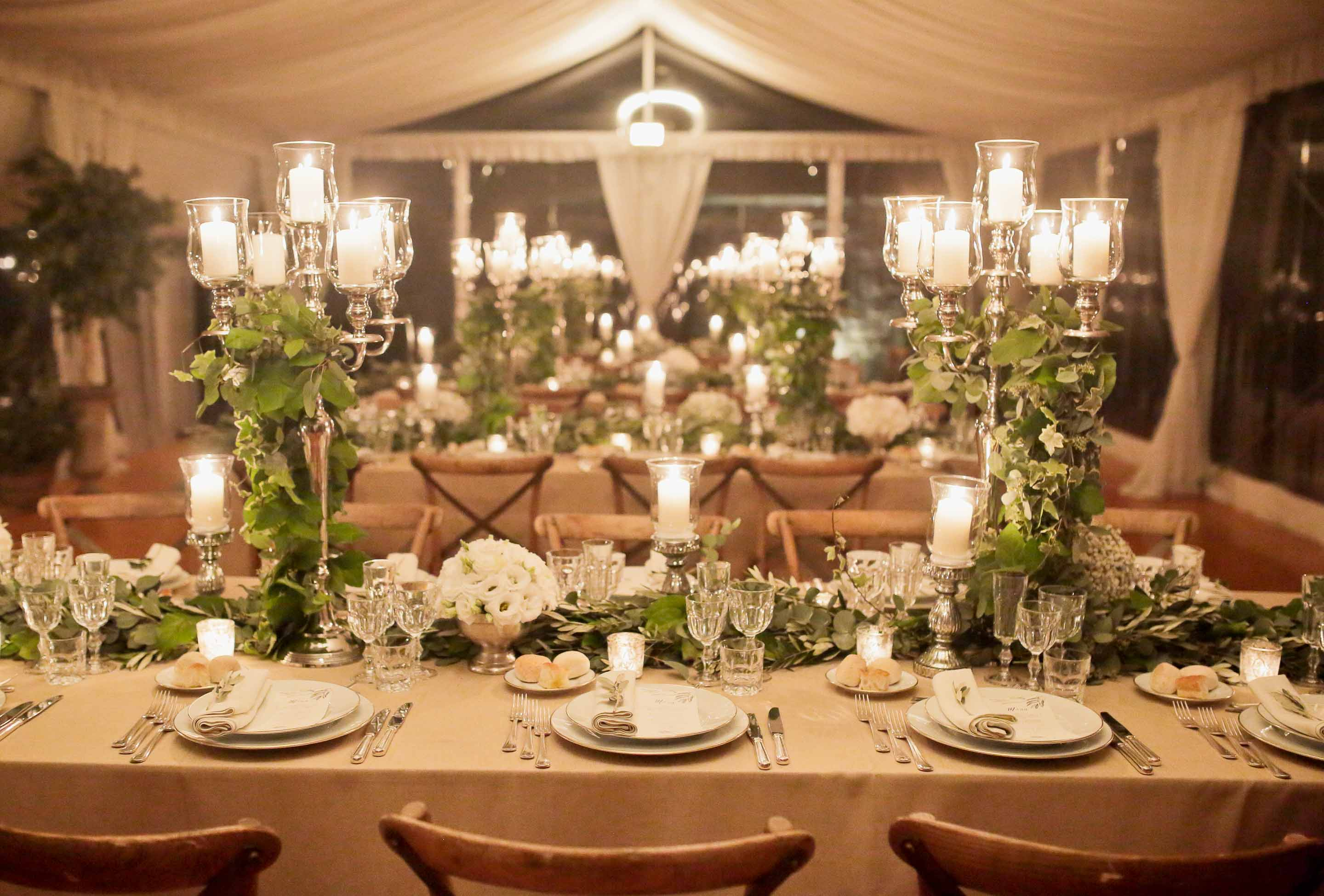 table setting by the castle