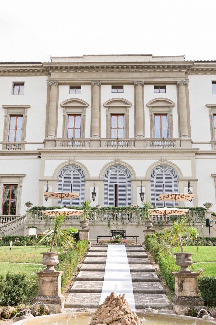 the facade of villa cora