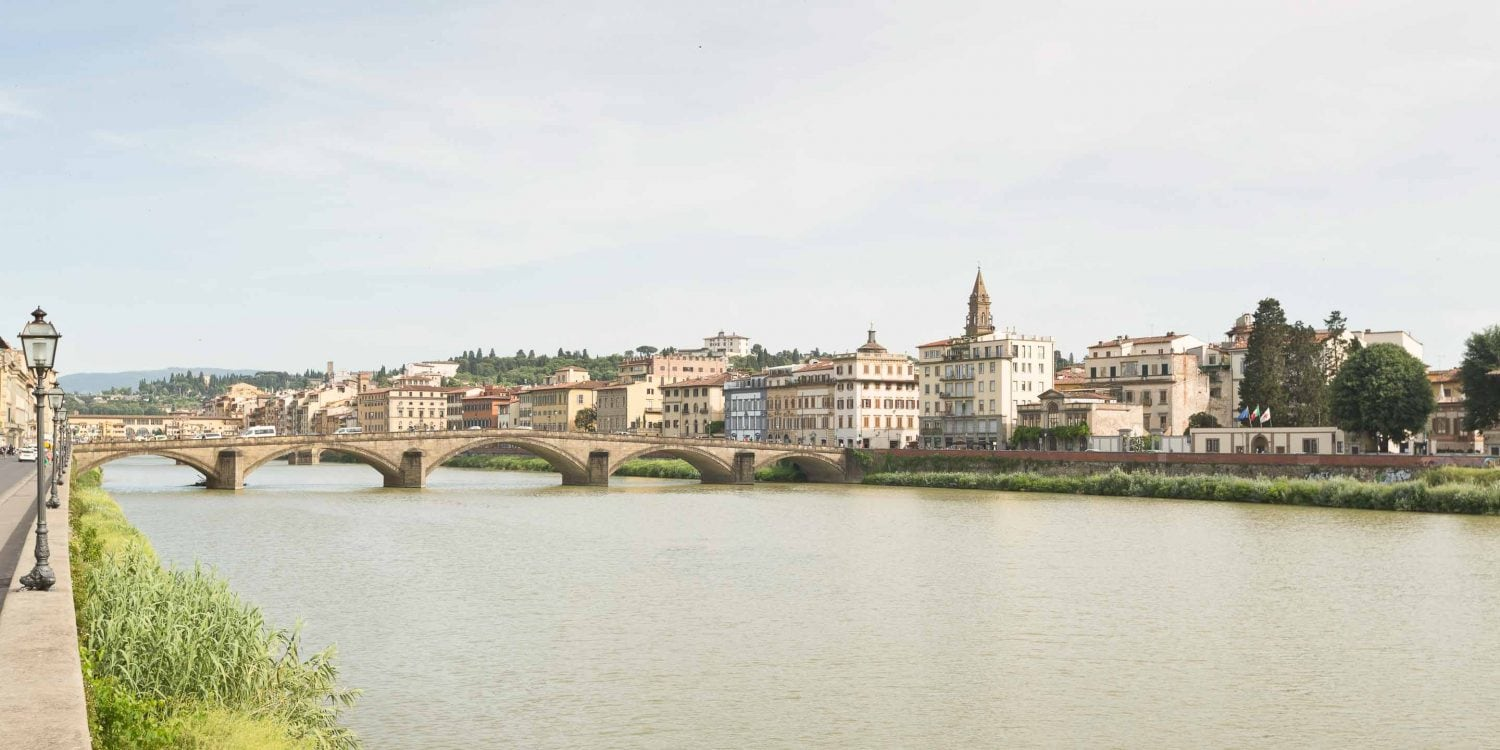 florence from the arno river