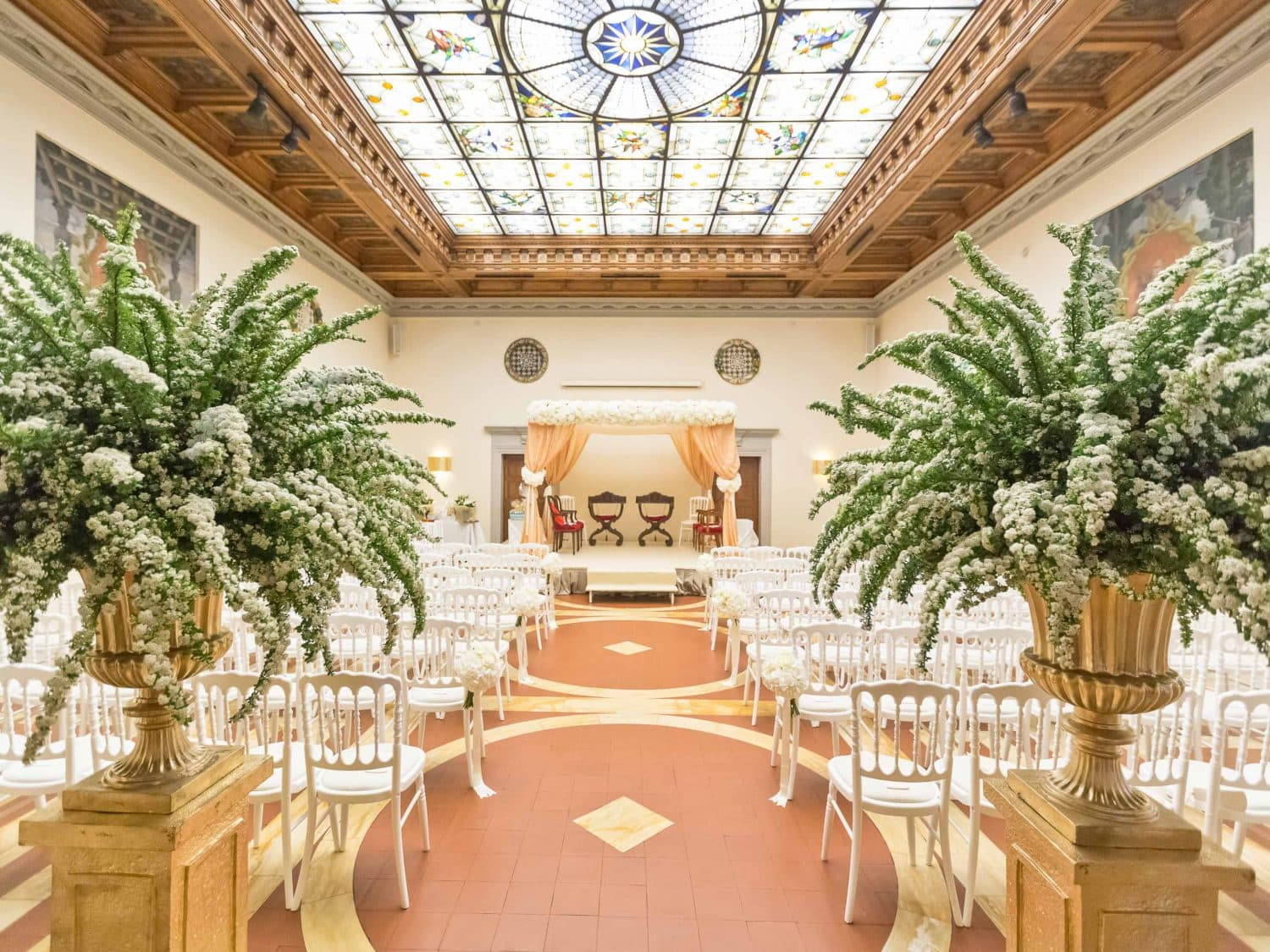 ceremony setting at westin excelsior in florence