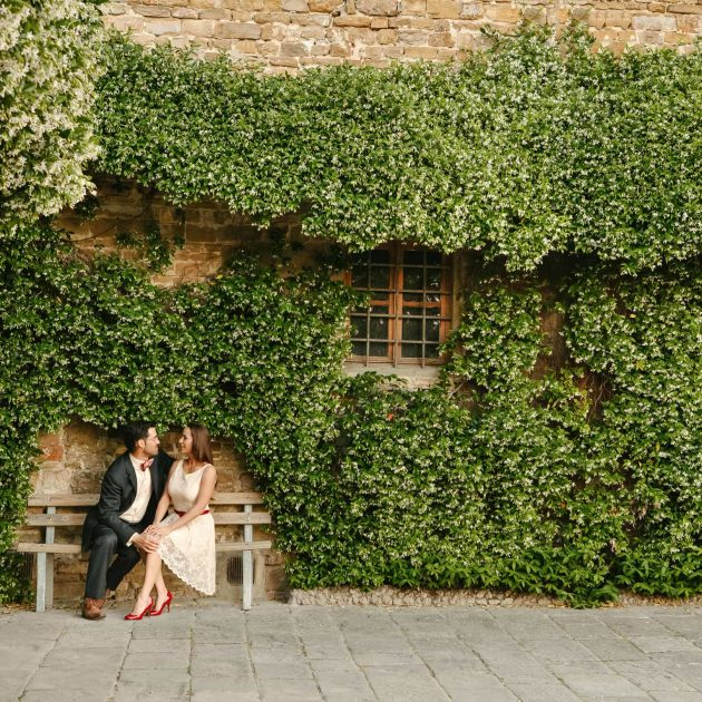 san miniato a monte with a lovely couple