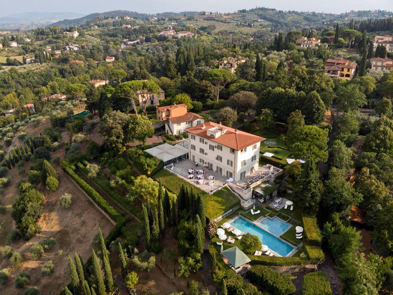 Villa La Vedetta from above