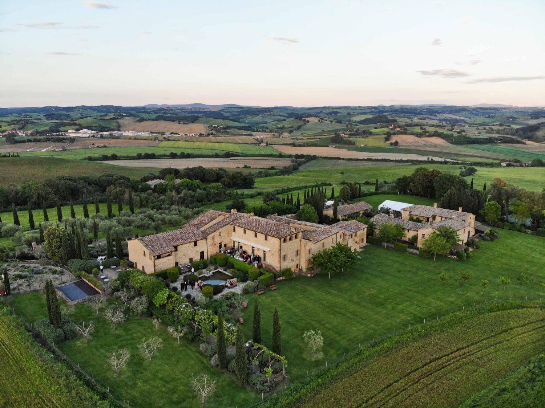 borgo finocchieto from above